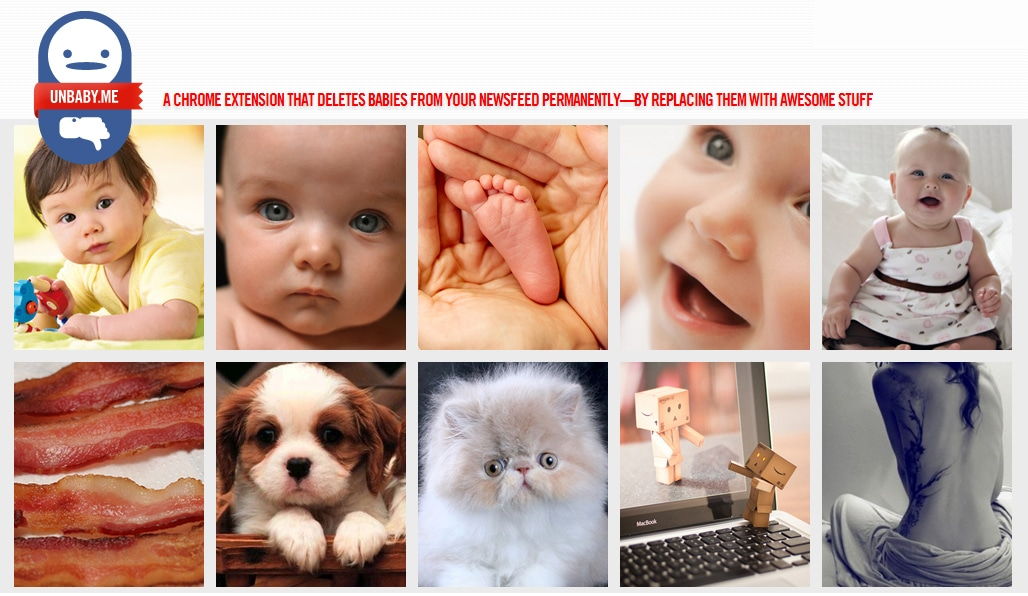 Unbaby Me: Chrome Extension That Removes All Baby Pictures
