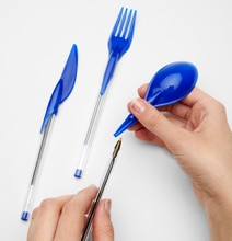 Utensils Mod For Pens: Keep Working While Eating Lunch