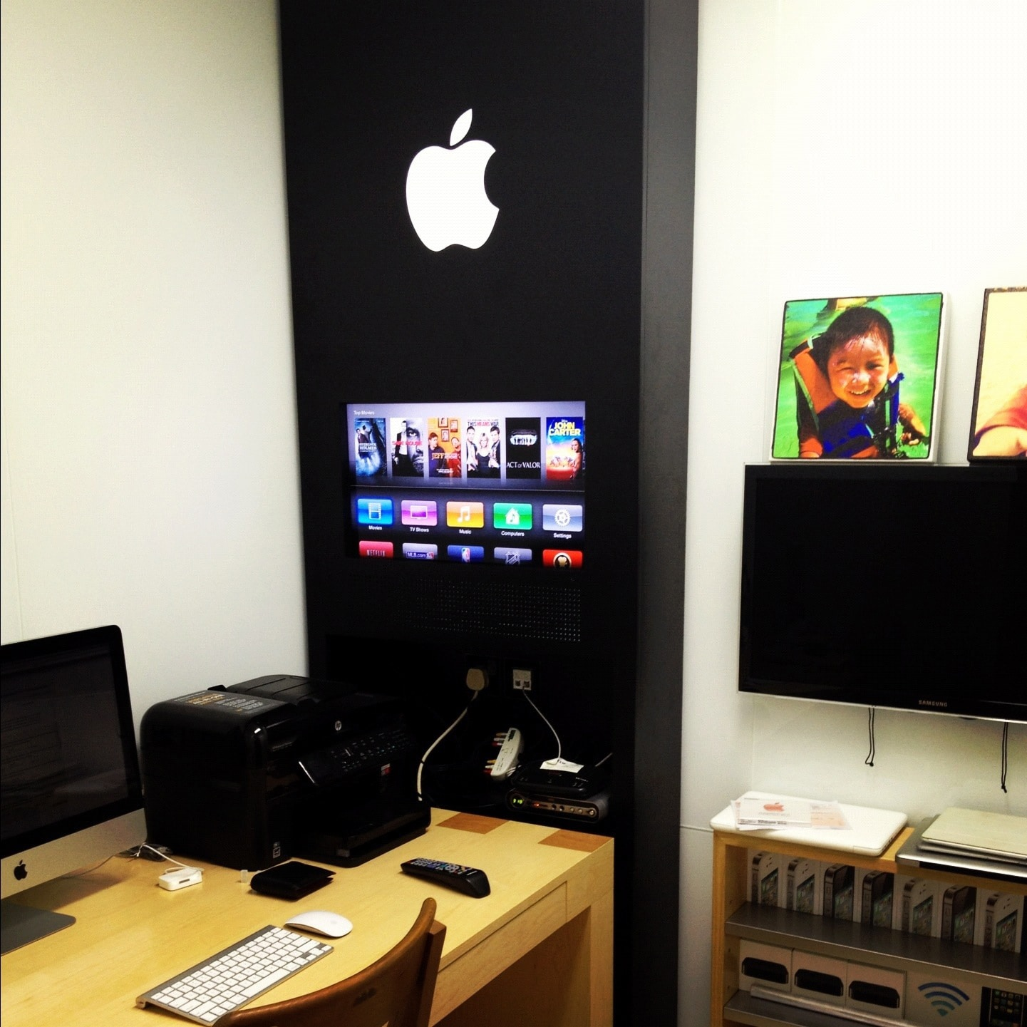 An Insane Apple Store Inspired Home Office Design