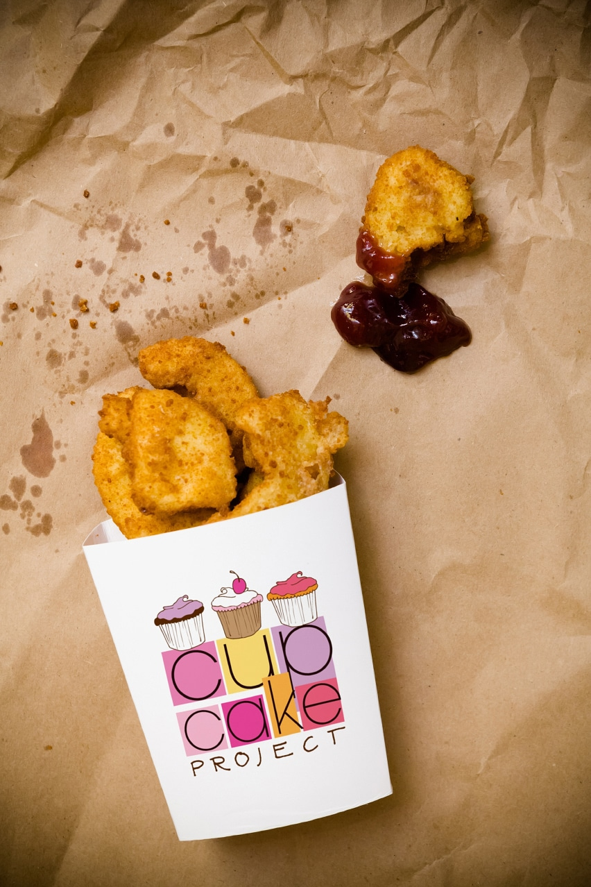 The Chicken Nugget Cupcake Design…I'd Eat It
