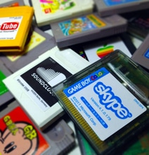 Nintendo Game Boy Cartridges Redesigned As Apple, Skype & More