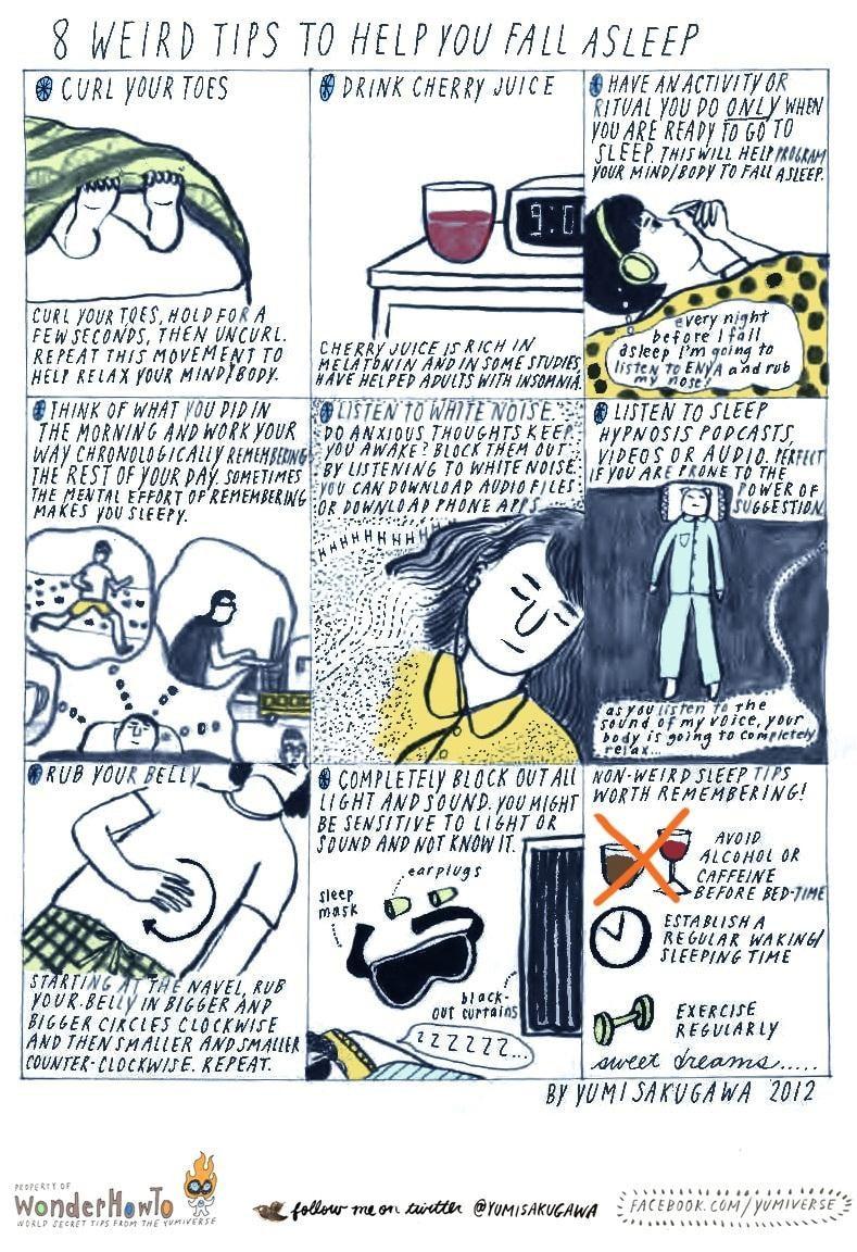 8 Unusual Little Tips & Tricks To Help You Fall Asleep
