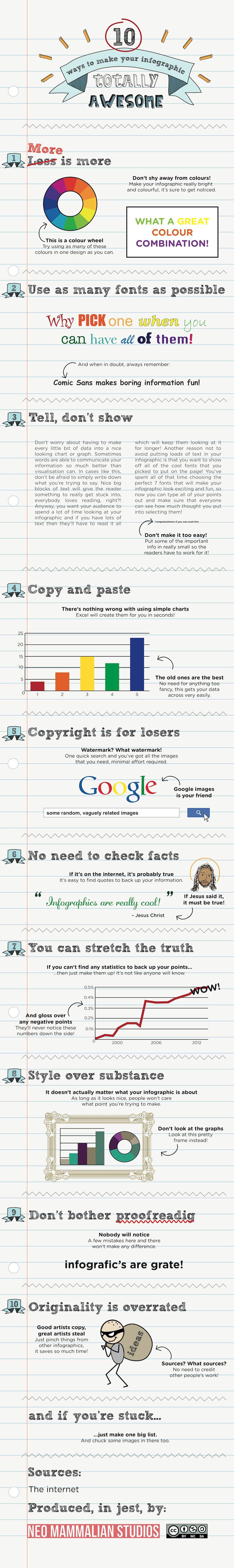 10 Sarcastic Ways To Make Infographics Impressive [Infographic]