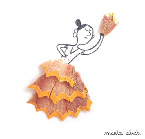 Pencil-Shavings-Illustrations-Pencil-Art