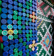 That's One Way To Reuse…House Covered In 30,000 Bottle Tops