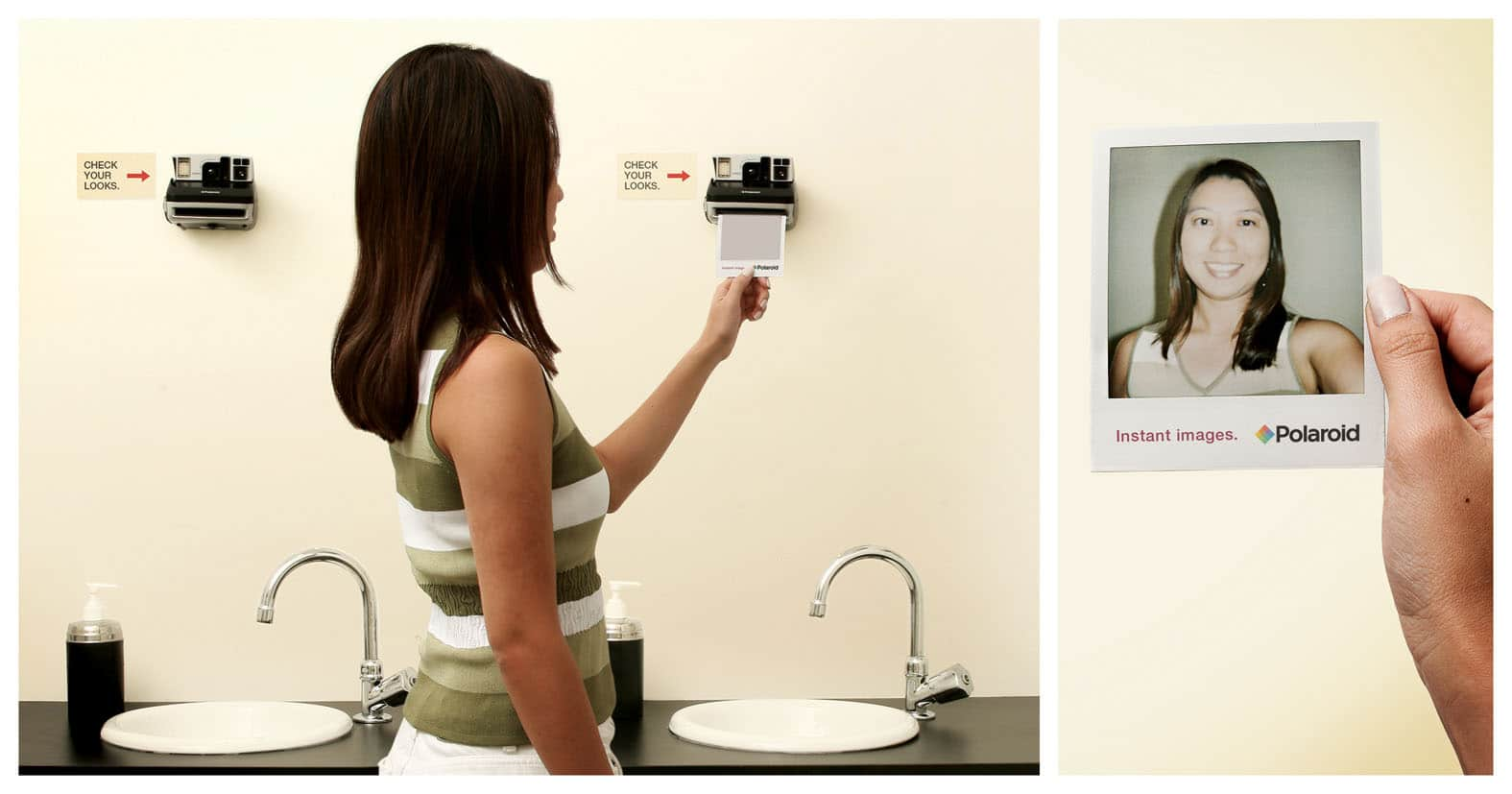 See Yourself Instantly: The Polaroid Picture Bathroom Mirror