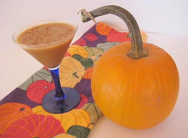 Drunk Pumpkin Pie: Autumn Dessert Served In A Martini Glass