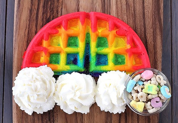 Rainbow-Colored-Waffle-Design
