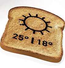 The Bread Toaster That Burns The Weather Forecast On Your Toast