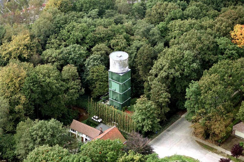 Old Water Tower Renovated Into To-Die-For Bachelor Pad