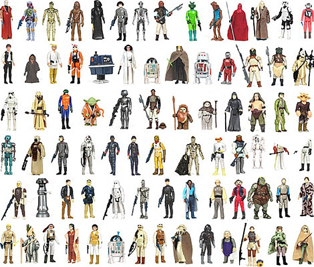 Complete Vintage Collection Of Original Star Wars Action Figures