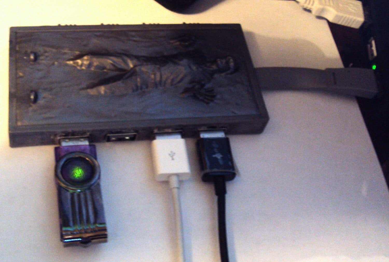 Han Solo Frozen In Carbonite Custom USB Hub Build