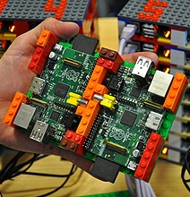 Interconnected Raspberry Pis Become Mega Supercomputer