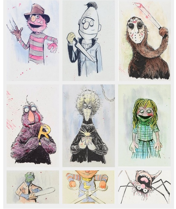 Nightmare Art Of Sesame Street Will Upset Your Childhood