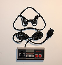 Nintendo Art Created Out Of Controller Cords