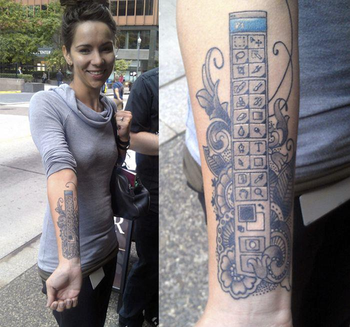 Photoshop Fan Tattoos Toolbar On Arm For Reality Photoshopping
