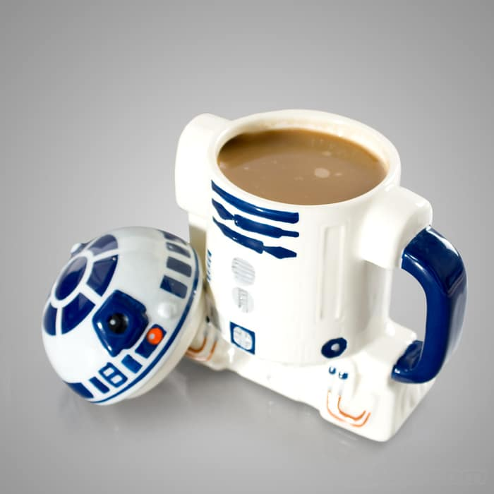 Star Wars R2-D2 Coffee Mug With Lid For The Caffeinated Geek