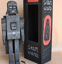 Wooden Figurines Of Star Wars Characters Surfaces