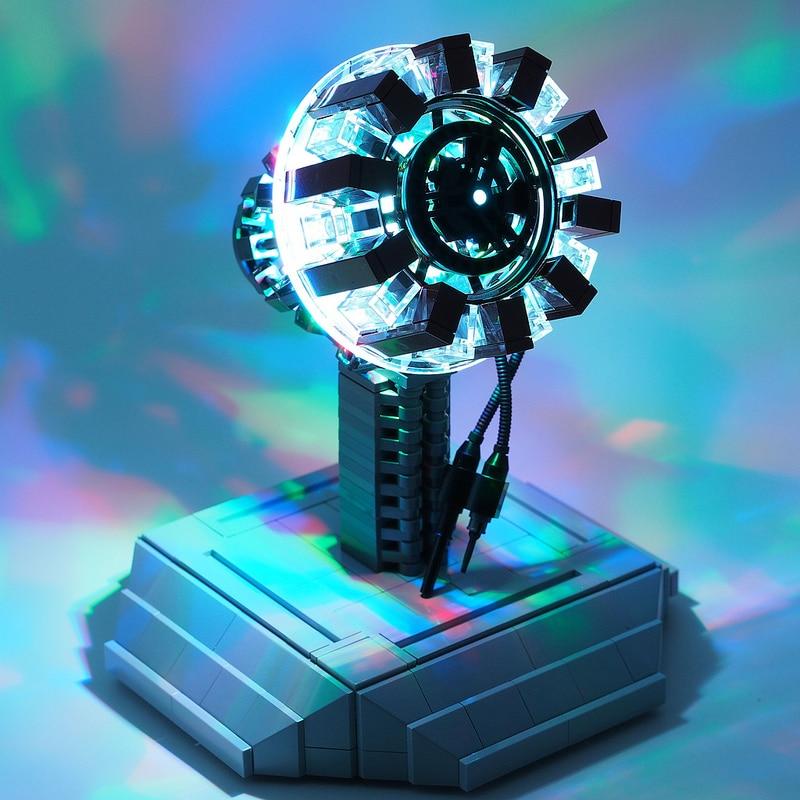 Arc Reactor LEGO Build Realizes Movie Magic