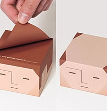 Sticky Notes With A Bald Head: Another Brilliant Sticky Note Design