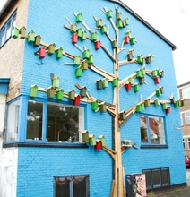 Beautiful Birdhouses Created From Trash Decorate Urban Areas