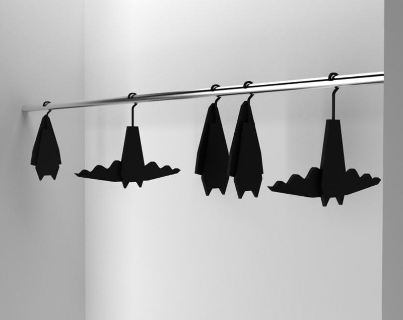 black-batman-clothes-hangers-design