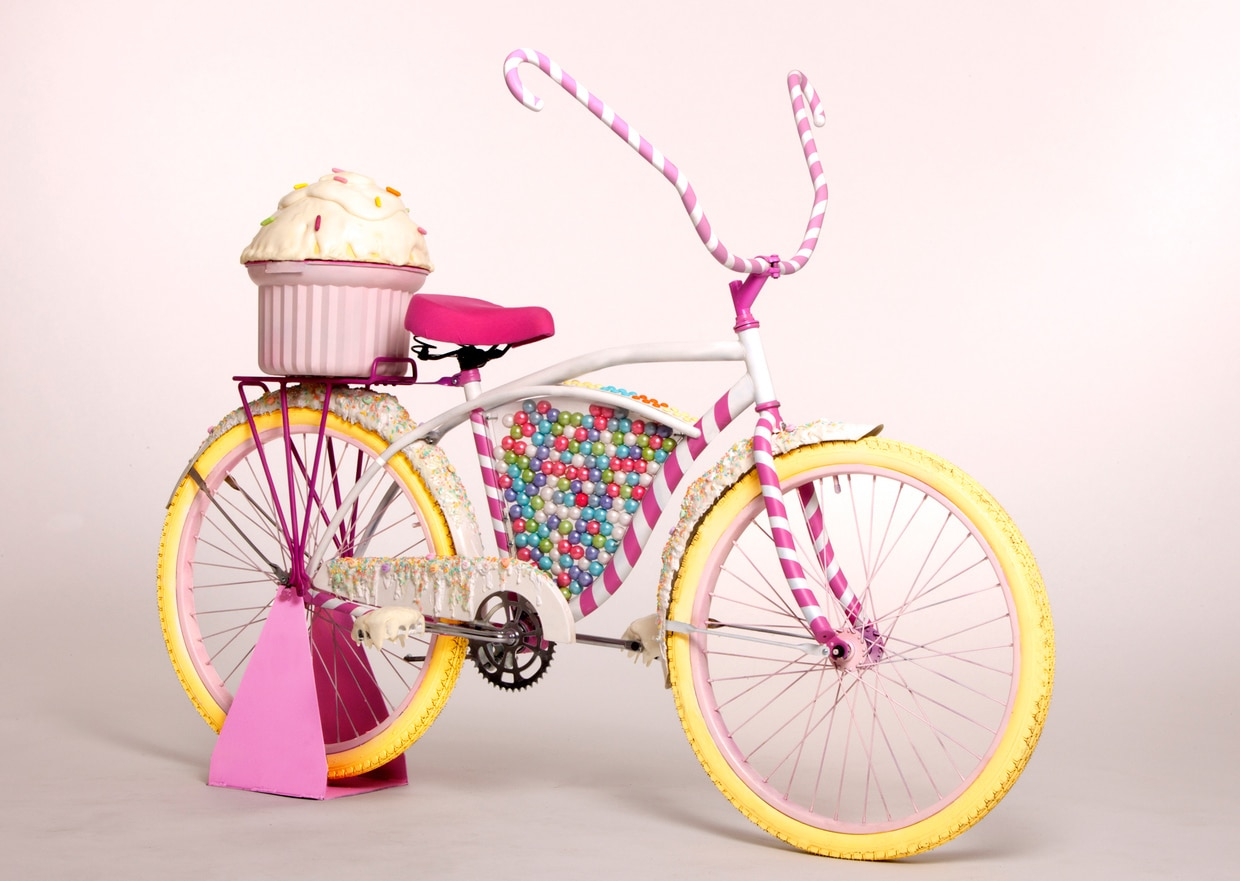 The Willy Wonka Style Candy Bike That Delivers Cupcakes