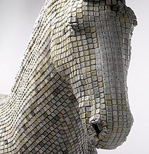 Trojan Horse Created From Thousands Of Computer Keyboard Keys