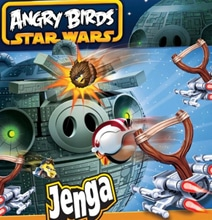 Death Star Destruction With Real Angry Birds Jenga Game