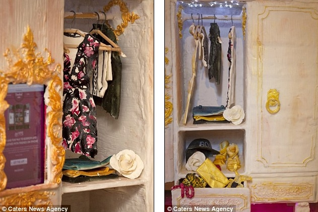 Pretty Cake Clothes Hanging In An Edible Closet (Complete With iPad)