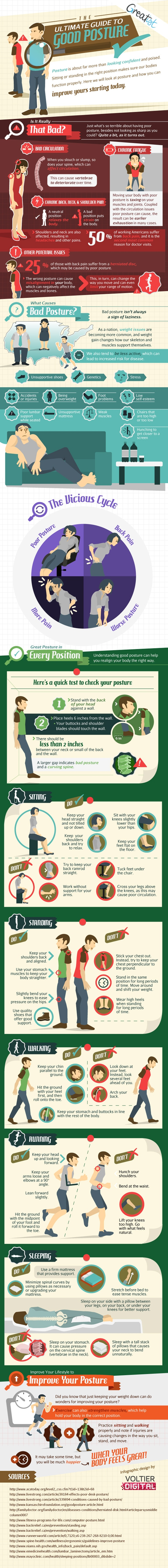 The Geek's Ultimate Guide To Improving Bad Posture [Infographic]
