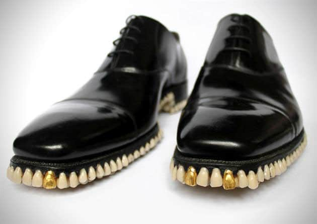 Horror Shoes Use Massive Amount Of Teeth For Soles