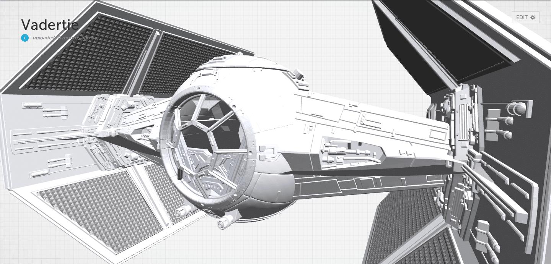 interactive-3d-model-tie-fighter