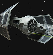 Interactive 3D Model Of Darth Vader's Epic Tie Fighter