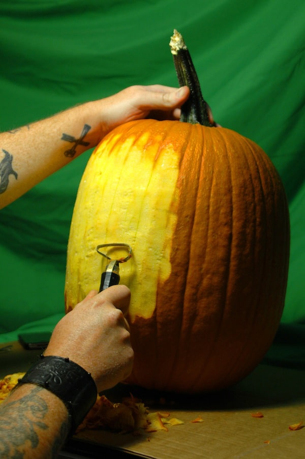 Pumpkin Dj A Pumpkin Carving Design That Spins Records