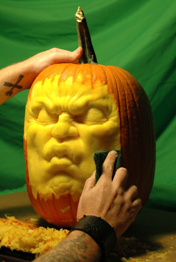 Pumpkin DJ: A Pumpkin Carving Design That Spins Records