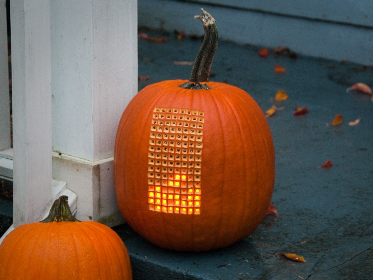 Extreme pumpkin mod playable electronic tetris inside a - Deco citrouille pour halloween ...