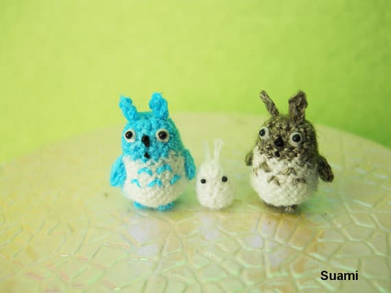 handmade-crocheted-woodland-totoros