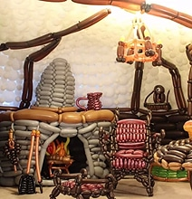 The Hobbit's Bag End Interior Balloon-Twisted Into Reality