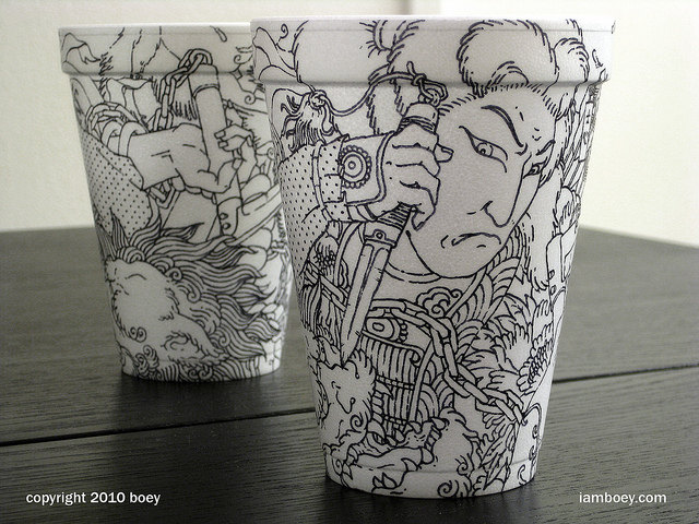 Rare Styrofoam Coffee Cup Art That Borders On The Epically Insane