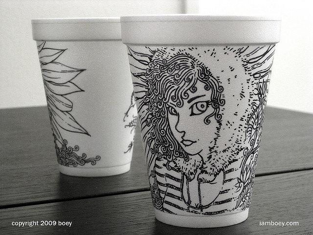 coffee-cup-art-styrofoam