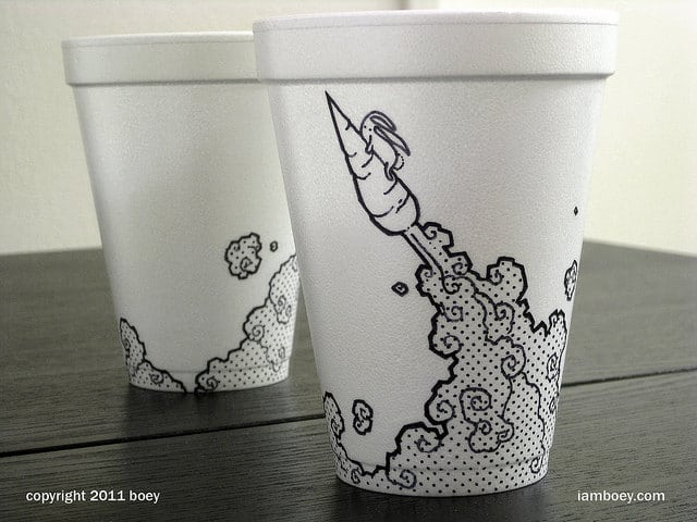 coffee-cup-art-styrofoam
