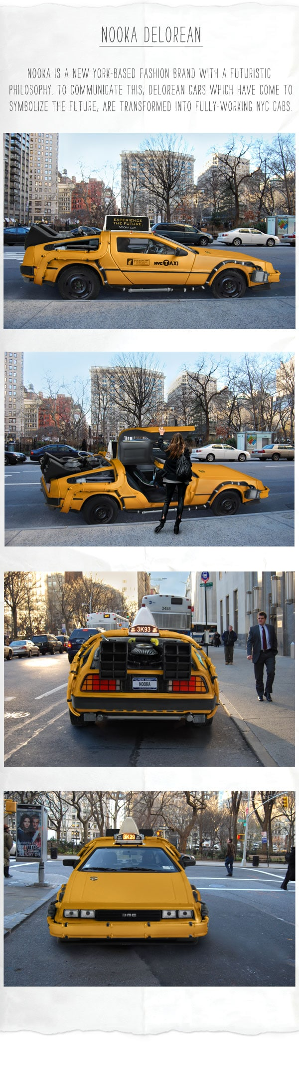 DeLorean Car Becomes The Taxi Of The Future