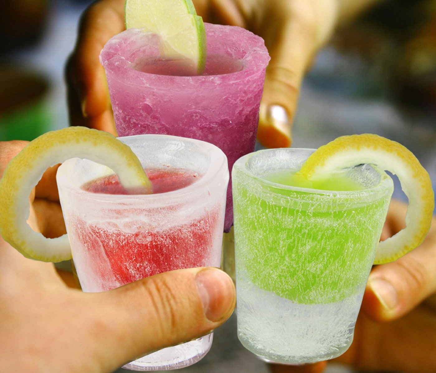 Ice Molds Party Glasses: The Glass Melts Away As You Sip Your Drink