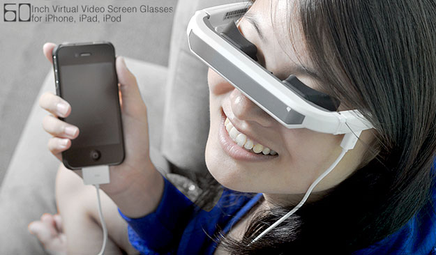 iPhone Glasses Enable A Virtual Personal Movie Screen