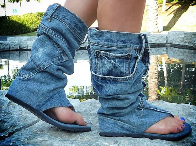 jeans-sandals-denim-shoes