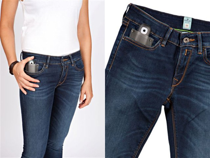 Social Jeans: Blue Jeans With Twitter & Facebook Built Right In