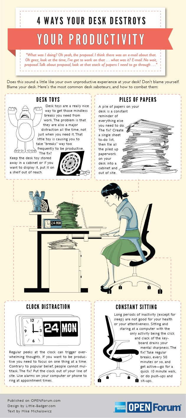 4 Ways Your Work Area Could Be Destroying Productivity [Infographic]