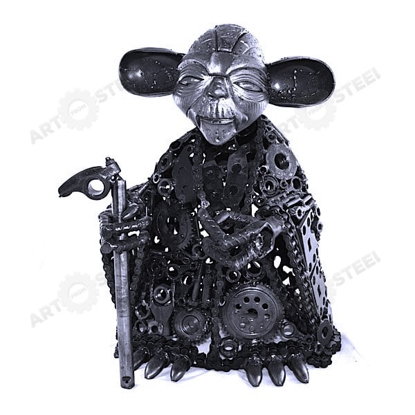 Recycled Metal Yoda Turns Scrap Into Collectibles