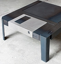 Giant Floppy Disk Becomes The Ultimate Retro Coffee Table